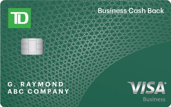 Apply for a TD Business Cash Back Visa* Card - TD Canada Trust