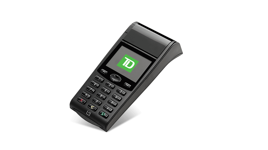 Image of the TD Generation Wi-Fi POS Device