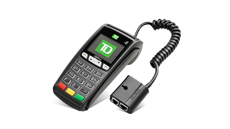 Image of the TD iCT250 POS Device