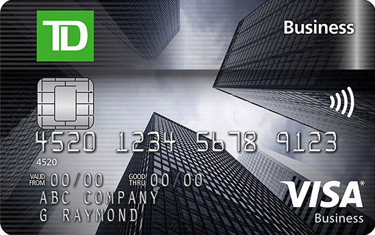 Td Credit Cards >> Apply For A Td Business Visa Credit Card Td Canada Trust