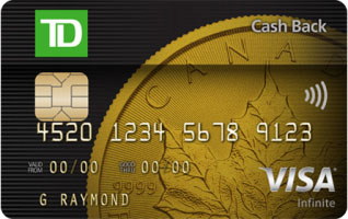 Td cash back visa infinite card td canada trust td cash back visa infinite card reheart Images