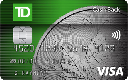 Td Cash Back Visa Card