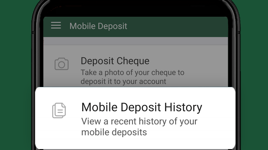 View deposited cheques