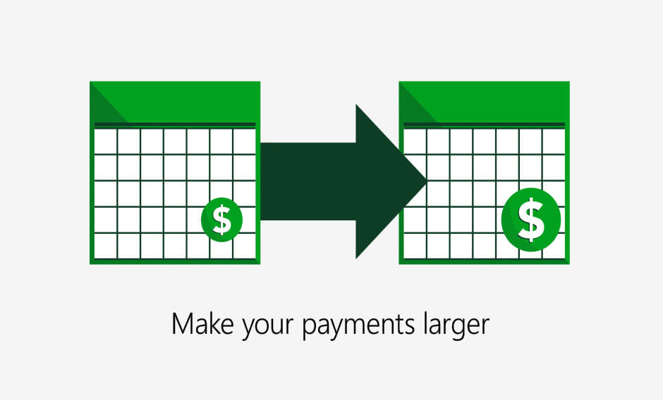Make your payments larger