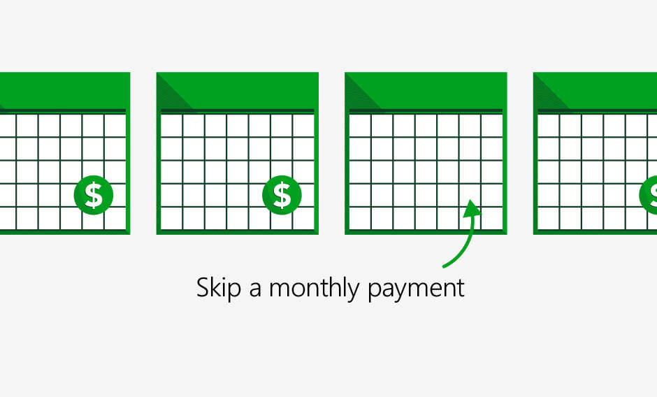 Skip a monthly principal and interest payment.