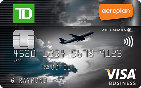 Get a td aeroplan visa business card td canada trust td aeroplanvisa business card reheart Image collections