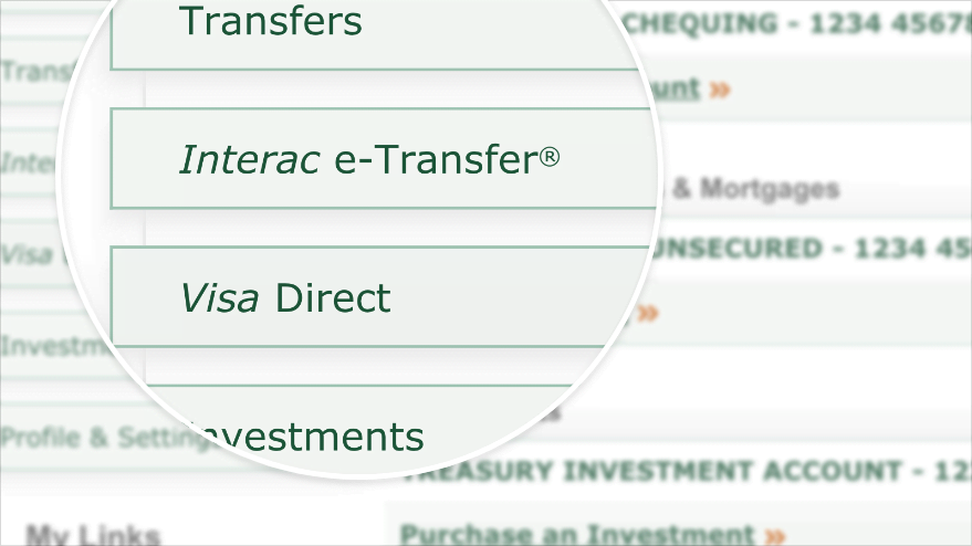 How to send an Interac e-Transfer® on EasyWeb