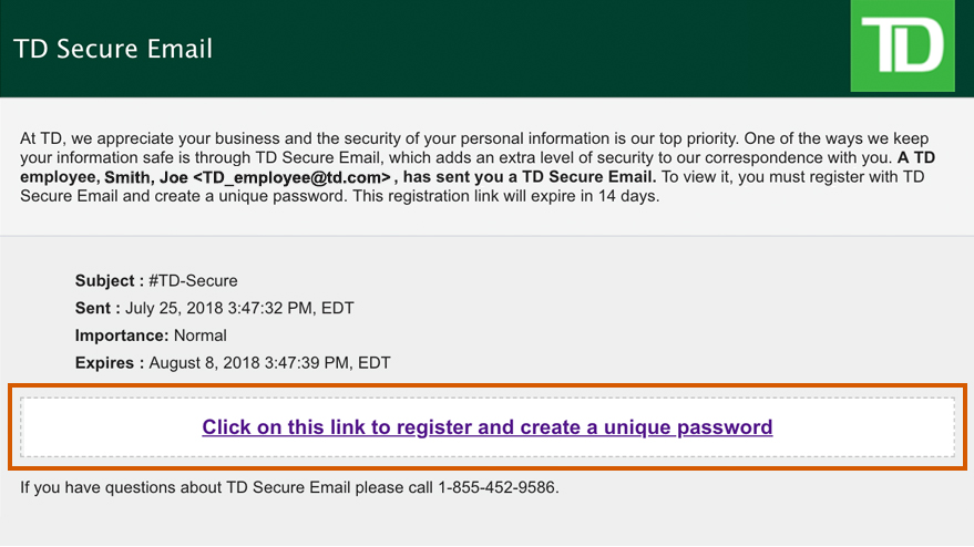 TD Secure Email | TD Canada Trust