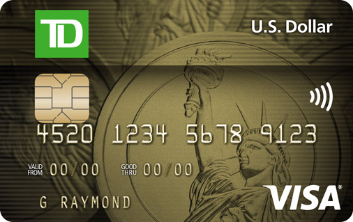 Ly For A Td U S Dollar Visa Card