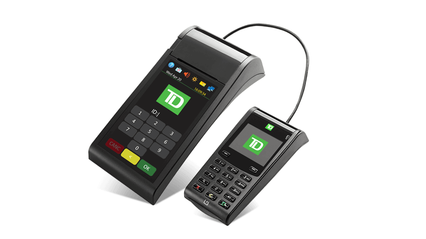 Image of the TD Generation Portal 2 with PINpad POS Device