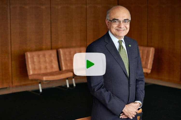 TD CEO Bharat Masrani sits down to speak about TD's corporate citizenship platform, The Ready Commitment Video.