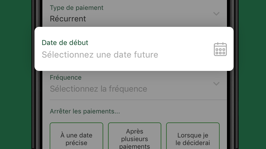 Select a Start Date After Today