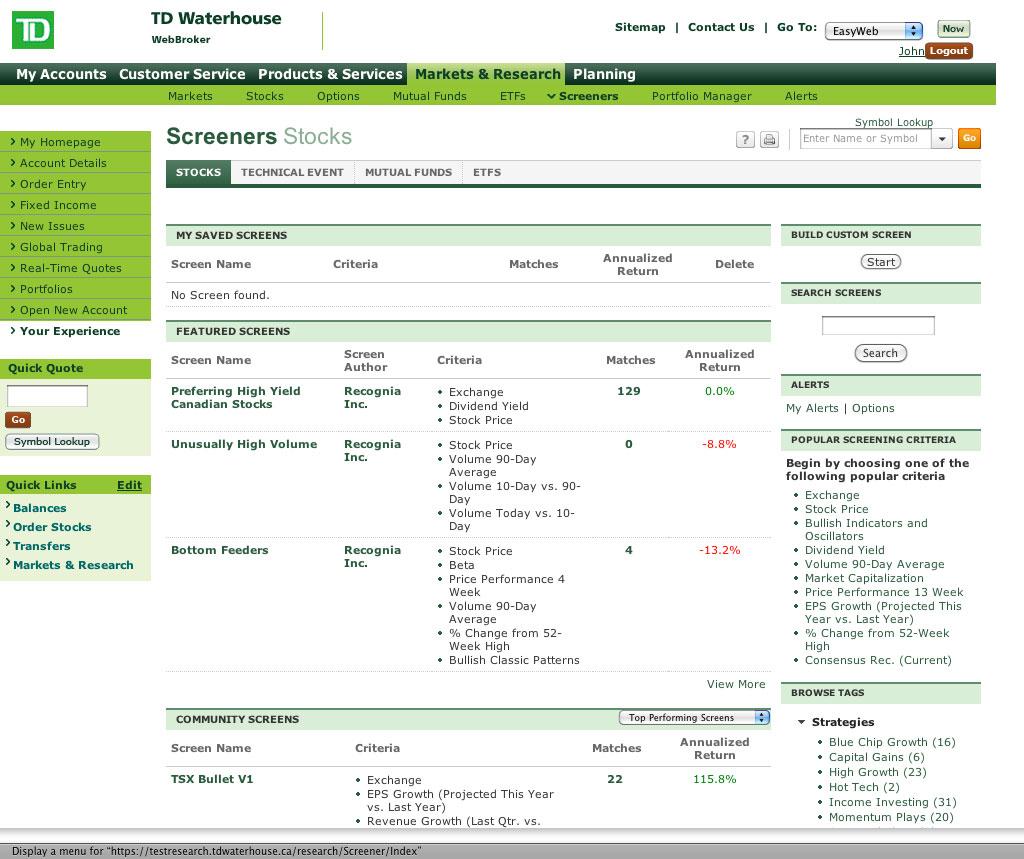 WebBroker | TD Direct Investing