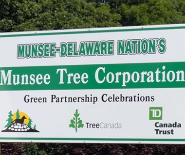photo of Munsee Tree Corp sign