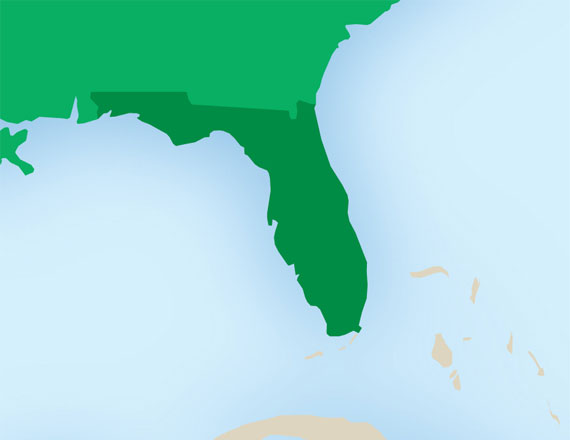 map of Florida U.S.A.