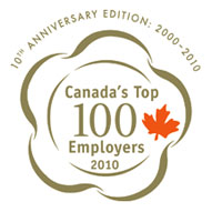Canada's to 100 Employers 2010