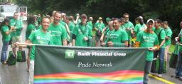 TD Pride photo of TD employees participating in Pride Week 2009 activities.
