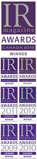 IR Magazine Awards - Canada Winner