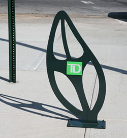 Photo d'un support à vélos à la TD