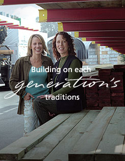 building on each generation's traditions