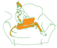 Illustration of person in a chair