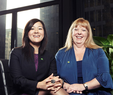 photo of Mylah Chu and Cindy Nielissen