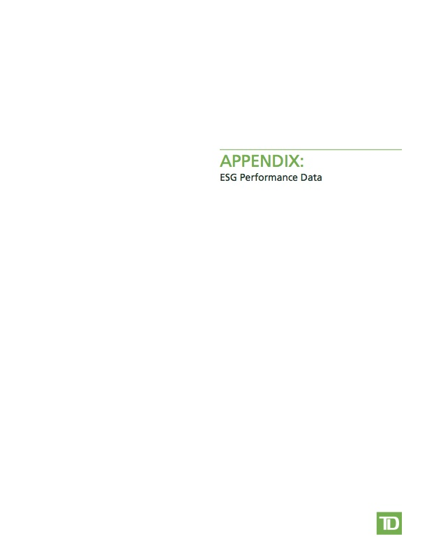 Appendix: ESG Performance Data