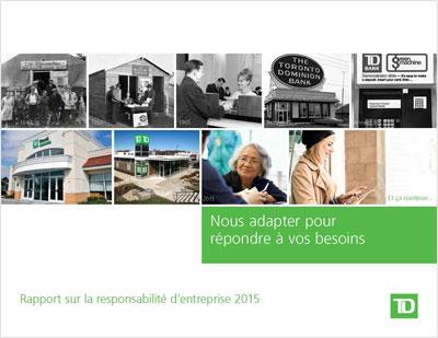 Rapport sur la responsabilité d'entreprise 2015