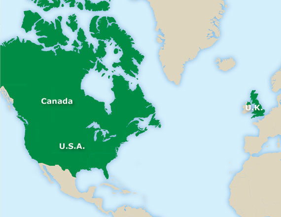 Td in action map of canada usa uk gumiabroncs Image collections