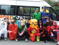 Pictured are enthusiatic employees dressed in costume for the occasion!