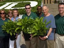 TD employees holding hosta plants