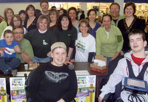 Group photo of employee volunteers