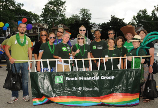 TD employees at Pride festival