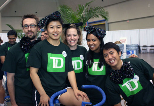 Photo of diverse TD employees