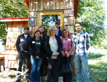 photo of TD employees, UBC Farm Aboriginal Garden