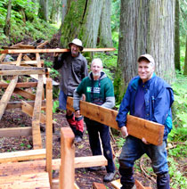 photo of TD employees, Wheelchair-Friendly Hiking Trail