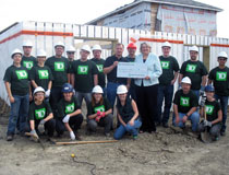 photo of TD employees, Habitat for Humanity