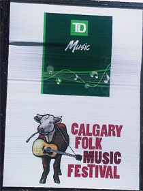 photo of Calgary Folk Festival sign