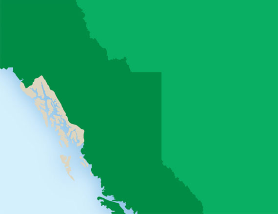 map of B.C., Yukon