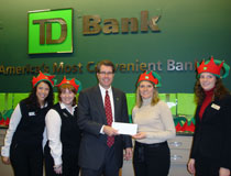 photo of TD employees, Salvation Army Santa Fund