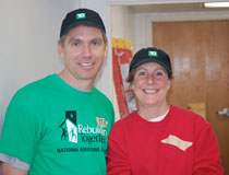 photo of TD Bank's Tom Hadler with volunteer