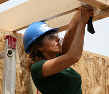 TD employee helps to build a home