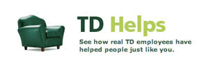 Image of TD Helps logo and green chair