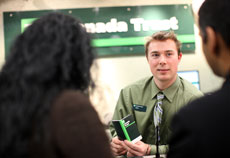 photo of TD employee with customers