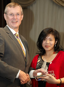 Photo of TD Employee receiving award