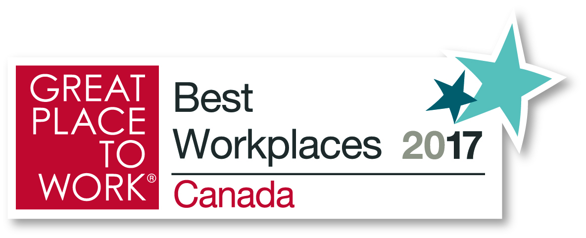 Great Place to Work – Best Workplaces 2017 Canada