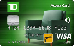 Image of a TD Canada Trust Access Card with embedded Chip