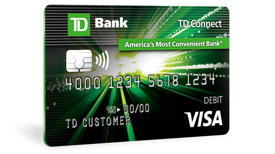 td connect reloadable prepaid visa card